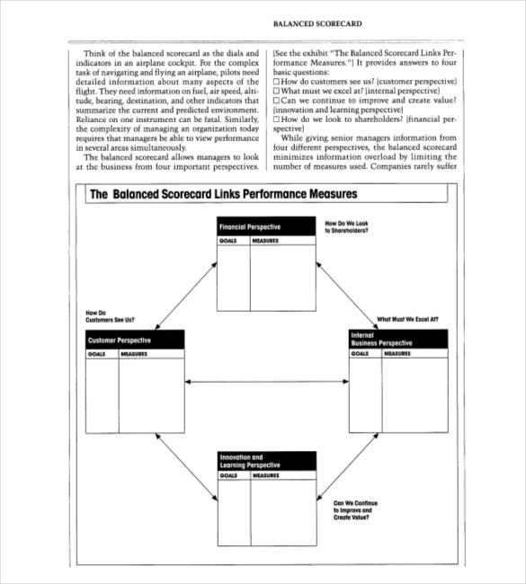strategic planning balanced scorecard