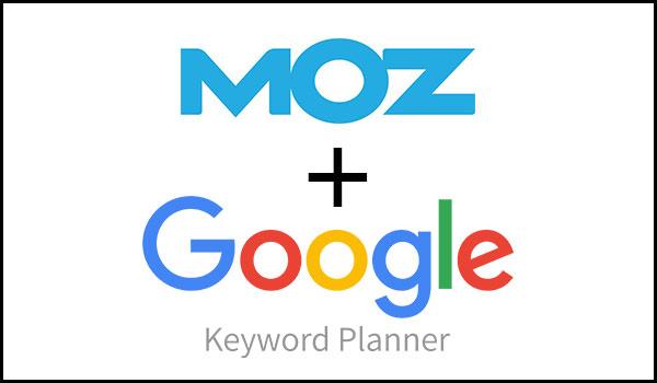 moz with google keyword planner