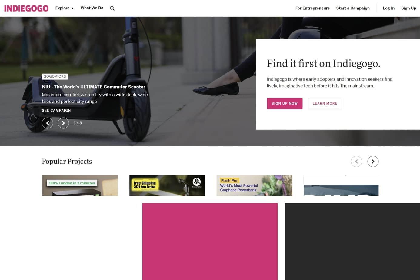 best design award indiegogo
